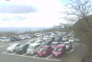 今朝の峠の茶屋駐車場