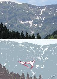人形山の雪形