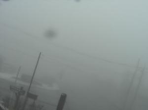 霧の大丸駐車場